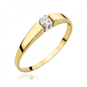 Pierścionek GS-025 0,08 ct